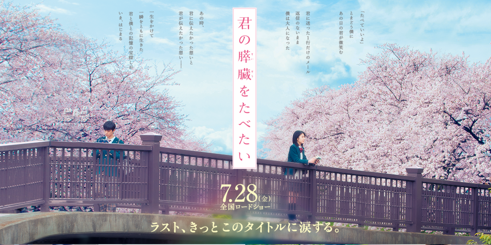 Kimi no Suizō o Tabetai Gets Anime Film In 2018!